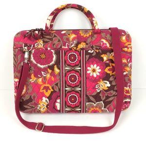 Vera Bradley Pink Carnaby Hard Shell Laptop Bag 17